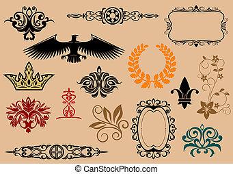heraldic, 元素