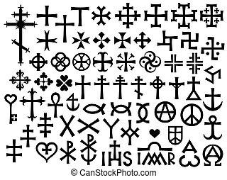 heraldic, 十字, キリスト教徒, モノグラム