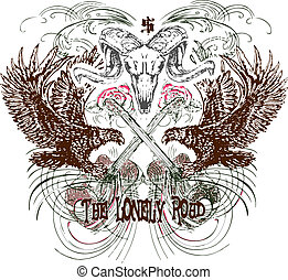 heraldic, 紋章, デザイン