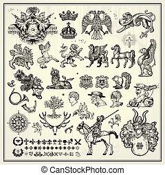 heraldic, 要素, デザイン