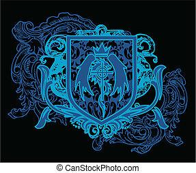 heraldic, 頂上, 要素