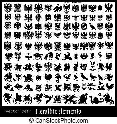 heraldic, beasts