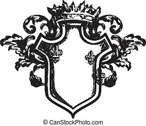 Heraldic coat of arms - Drawing heraldic coat of arms