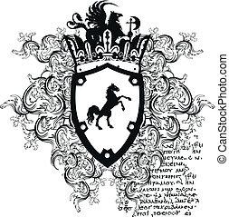 heraldic coat of arms ornament 10