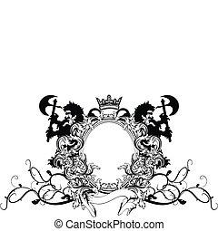 heraldic coat of arms ornament 2