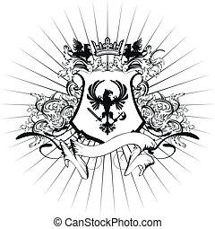 heraldic coat of arms ornament 8 - heraldic coat of arms...