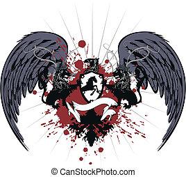 heraldic coat of arms tshirt 3