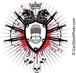 heraldic coat of arms6 - heraldic coat of arms in vector...