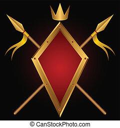 Heraldic composition.