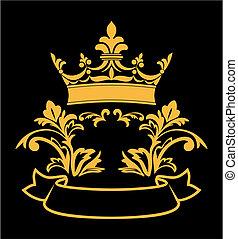 heraldic, coroa