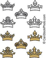 heraldic, coroas