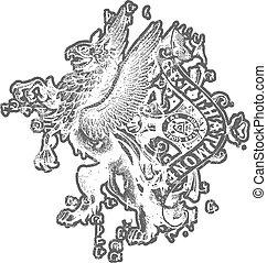 heraldic, crista
