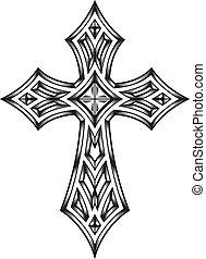 Heraldic Cross - fully editable vector illustration (...