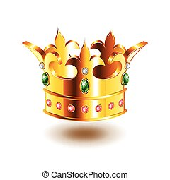 Heraldic crown isolated on white vector