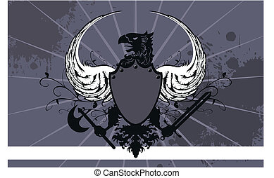 heraldic eagle background06