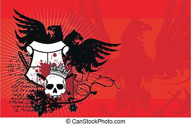 heraldic eagle background3 - heraldic eagle background in...