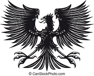 Heraldic eagle - Big detailed eagle for heraldry or tattoo...