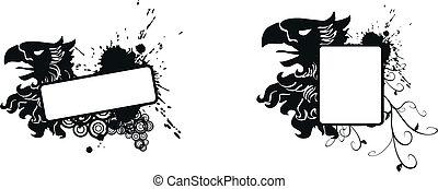 heraldic eagle coat of arms set17
