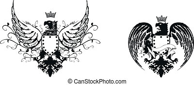 heraldic eagle coat of arms set4 - heraldic eagle coat of...