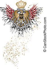 heraldic eagle emblem
