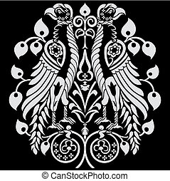 Heraldic Eagles Decoration - Heraldic Birds decorated with...