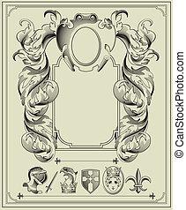 heraldic, elements.