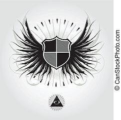 heraldic, escudo