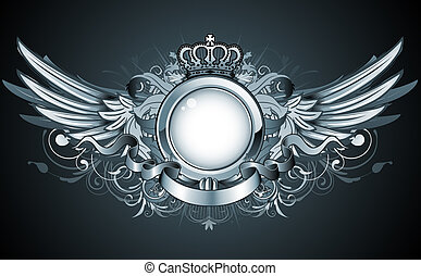 heraldic frame - Vector illustration of heraldic frame or...