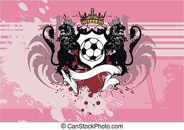 heraldic, futebol, leão, background1