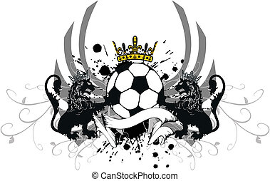 heraldic, futebol, leão, crest3