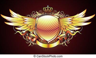 heraldic golden shield