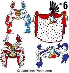 Heraldic Helmets 6 - Heraldic Helmets vol.6 - Coloured...