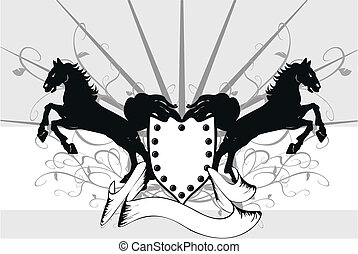 heraldic horse background 6