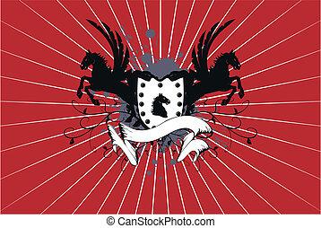 heraldic horse background 8