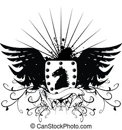 heraldic horse coat of arms 3