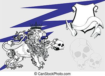 heraldic lion coat of arms