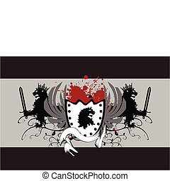 heraldic lion coat of arms03