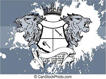 heraldic lion head coat of arms6