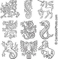 Heraldic monsters vol I