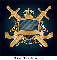 heraldic, pattern.