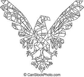 heraldic polygonal eagle tattoo