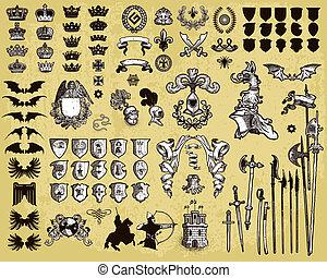 heraldic, projete elementos