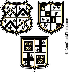 heraldic royal emblem badge shield