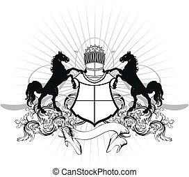 heraldic shield coat of arms crest1