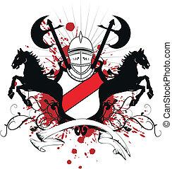 heraldic shield coat of arms crest2