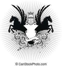heraldic shield coat of arms crest5