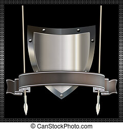 Heraldic shield.