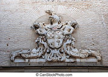 Heraldic shield in Toledo Spain