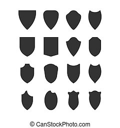 Coat of arms icons collection