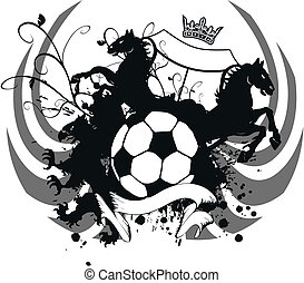 heraldic soccer coat of arms 4 - heraldic soccer coat of...